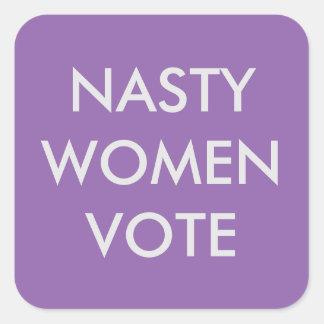 Autocollant méchant de vote de femmes