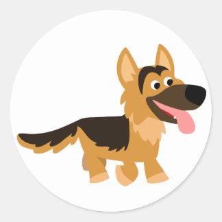 Autocollant mignon de chien de berger allemand de