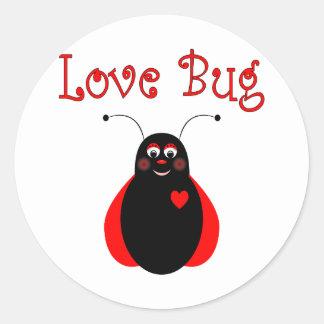 Autocollant mignon de coccinelle d'insecte d'amour