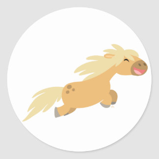Autocollant mignon de poney de palomino de bande