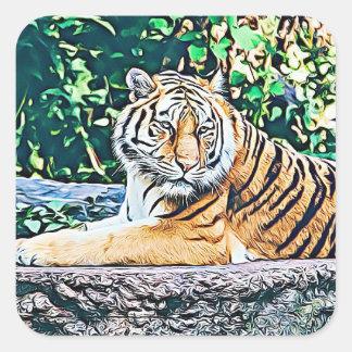 Autocollant mignon de repos de tigre