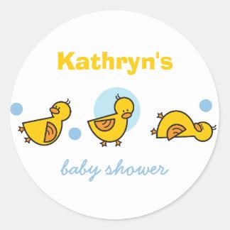 Autocollant mignon d'étiquette de cadeau de baby