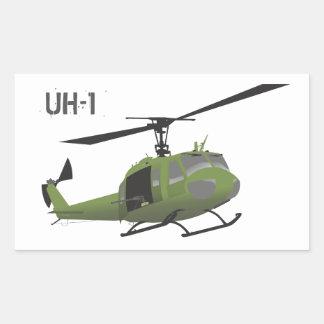 Autocollant militaire d'hélicoptère de Huey