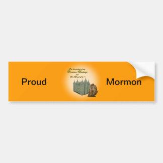 Autocollant mormon fier