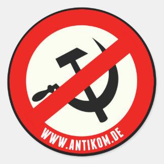 Autocollant : No Communism (environ)