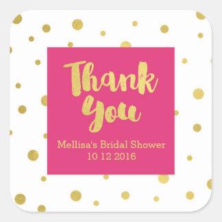 Autocollant nuptiale de faveur de Merci de douche