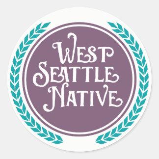 Autocollant occidental d'indigène de Seattle