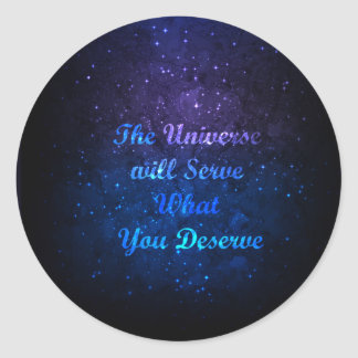 Autocollant ombragé par bleu cosmique de connexion