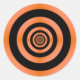 Autocollant orange et noir de cible