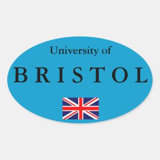 Autocollant ovale européen d'université de Bristol