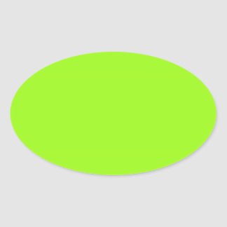 Autocollant ovale vert Chartreuse lumineux