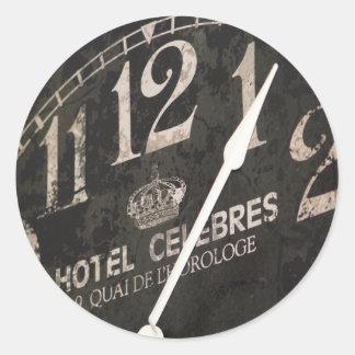 Autocollant parisien d'horloge