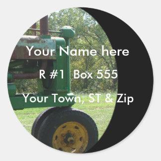autocollant-personnaliser vintage de tracteur