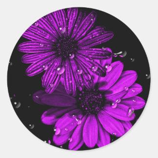 autocollant pourpre de fleur de cercle