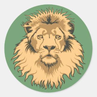 Autocollant principal de lion
