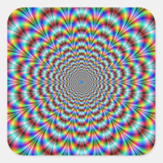 Autocollant psychédélique de carré de cintreuse