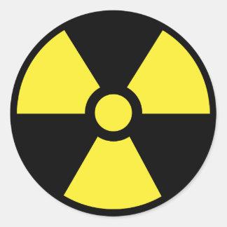 Autocollant radioactif de symbole