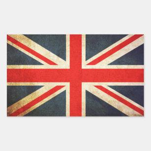 Autocollant rectangulaire de drapeau britannique