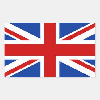 Autocollant rectangulaire d'Union Jack