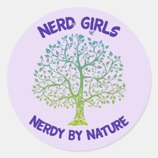 Autocollant ringard de filles nerd par nature