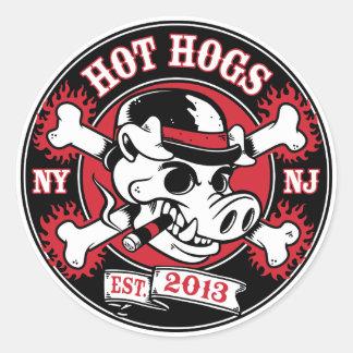 Autocollant rond classique chaud de Hogs™
