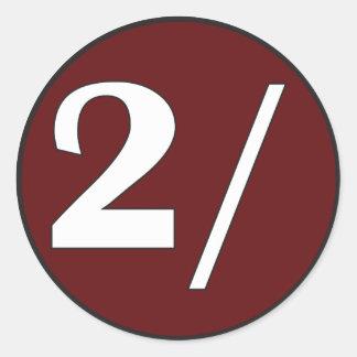 Autocollant rond de logo de deux Schillingsworth