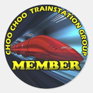 Autocollant rond de membres de CCTSG, brillant