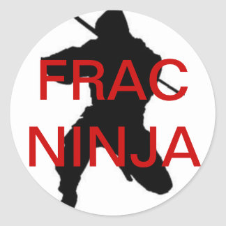autocollant rond de ninja de frac