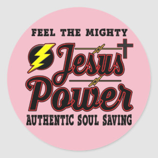 Autocollant rond de puissance de Jésus
