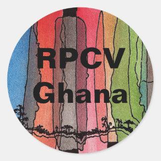 Autocollant rond de RPCV Ghana
