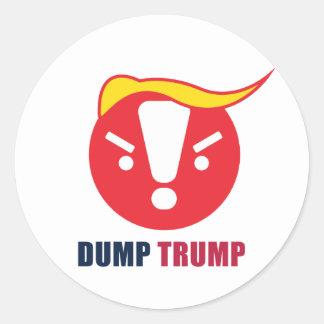 Autocollant rond d'Emoji d'atout de décharge :