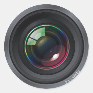 Autocollant rond d'objectif de caméra