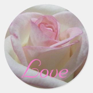 Autocollant rose d'amour