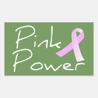 Autocollant rose de conscience de cancer du sein