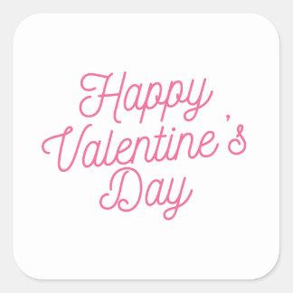 Autocollant rose de la heureuse Sainte-Valentin |
