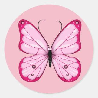 Autocollant rose de papillon