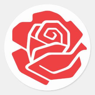 Autocollant rose de socialiste