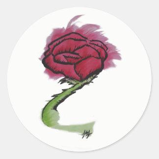 Autocollant rose peint