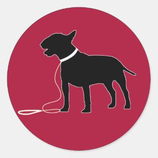 Autocollant rouge de bull-terrier