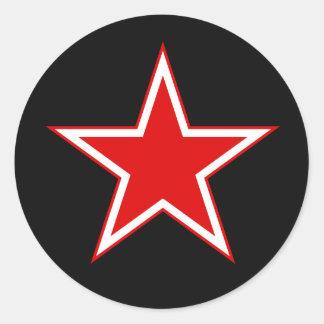 Autocollant rouge de noir d'étoile