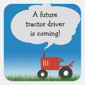 Autocollant rouge de tracteur : joint d'enveloppe