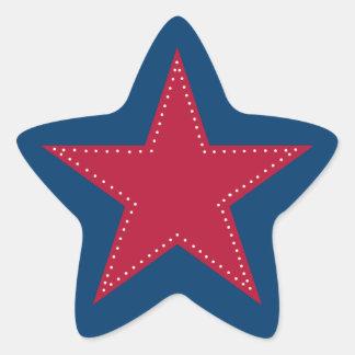 Autocollant rouge d'étoile - Noël