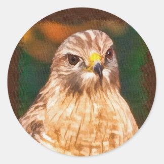 autocollant Rouge-épaulé de faucon