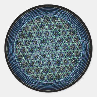 Autocollant sacré de la géométrie