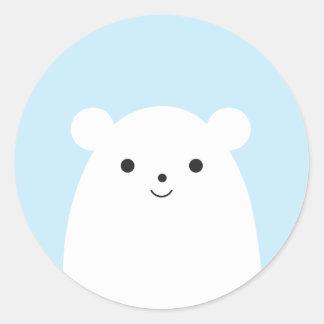 Autocollant semi-transparent d'ours blanc