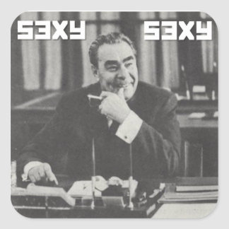 Autocollant sexy de Brezhnev