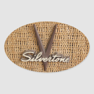 "Autocollant Silvertone de logo de ""V"""