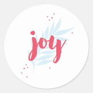 Autocollant simple de coutume de feuillage de joie