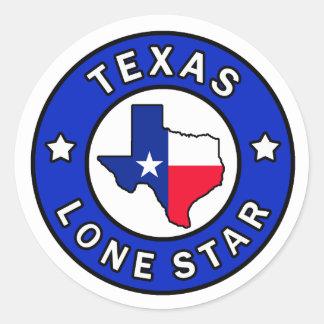 Autocollant solitaire d'étoile du Texas