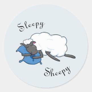 Autocollant somnolent de Sheepy